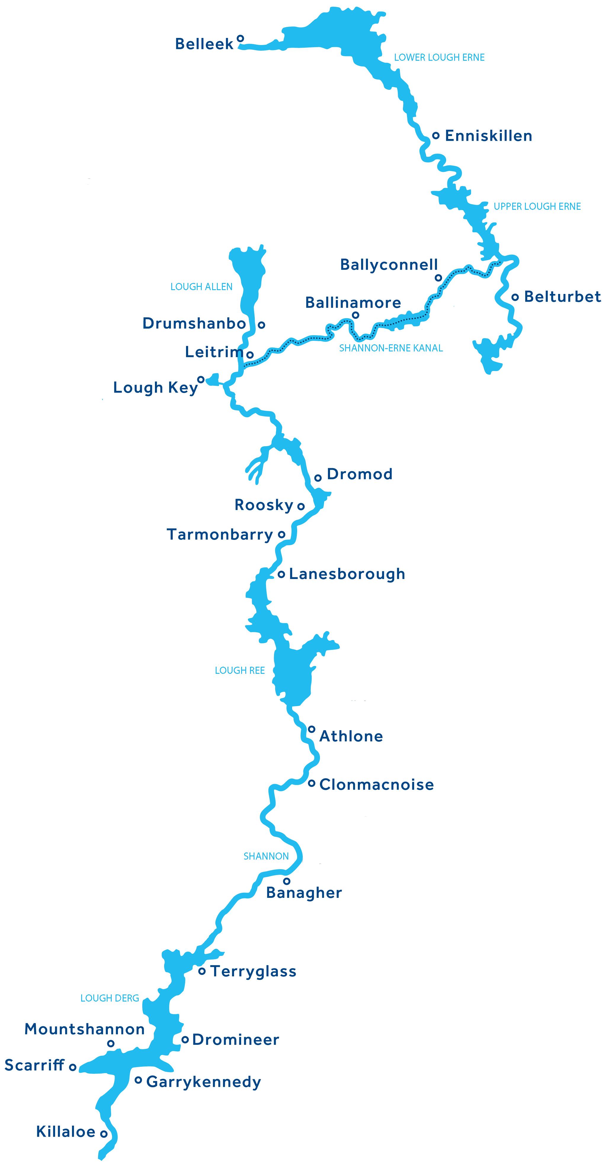 Shannon Errne Wasserwege Karte